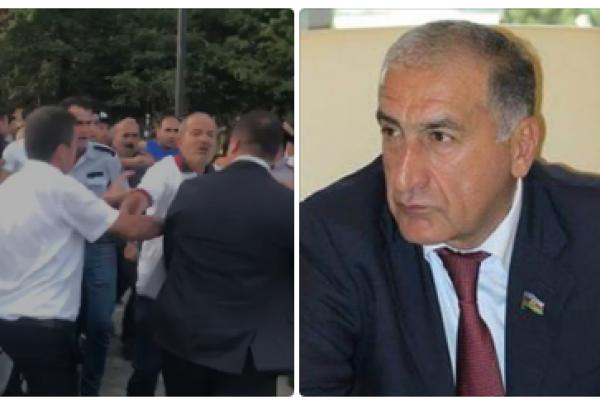 """Deputat İqbal Məmmədov """"Relax""""a gələn vergi işçilərini döydürdü - ŞOK VİDEO"""