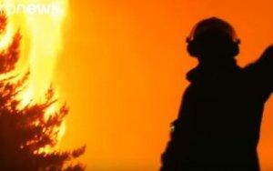 Чили охватили лесные пожары - ВИДЕО