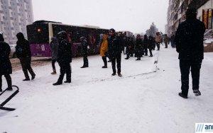 Снежный Баку - ФОТО