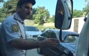Bakıda polisin qayda pozması canlı yayımlandı - VİDEO