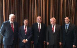 Эльмар Мамедъяров встретился с сопредседателями Минской группы ОБСЕ - МИД