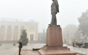 Ильхам Алиев в Гяндже