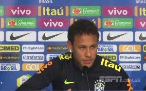Неймар расплакался на пресс-конференции