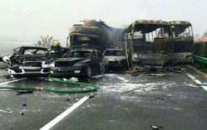 В Китае произошла цепная авария, есть погибшие