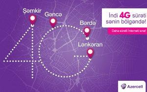 Услуги 4G Azercell стремительно распространяются по регионам