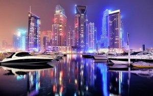 Масштабное лазерное шоу в Дубае  - ВИДЕО