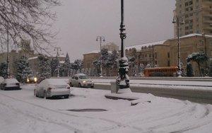 Сегодня вечером в Баку ожидается  снег