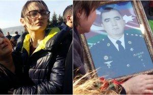 Həlak olan hərbçimizin həyat yoldaşı və övladlarının fəryadı FOTOLARDA