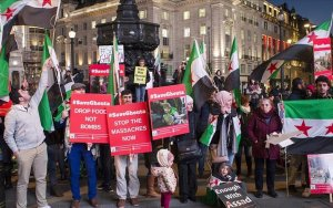 London protest urges action over Eastern Ghouta bombing