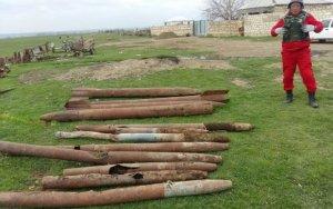 В Агстафе обнаружено 12 ракет – ФОТО