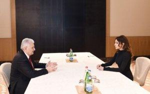 Состоялась встреча Мехрибан Алиевой с премьер-министром Турции