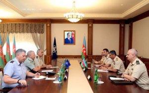 Закир Гасанов встретился с генералами НАТО - ФОТО