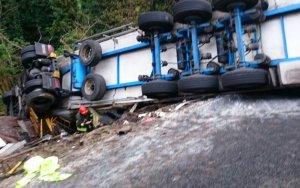В Гейгеле перевернулся грузовой автомобиль