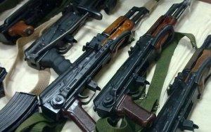 На азербайджано-российской границе нашли автоматы и пулеметы