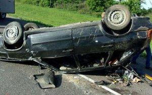 В Сиязане перевернулся автомобиль