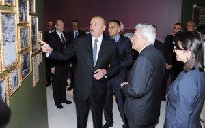 Президенты Азербайджана и Италии на выставке в Баку - ФОТО