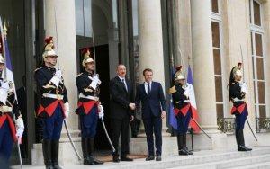 Переговоры Алиева и Макрона в Елисейском дворце - ФОТО