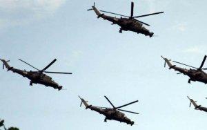 Вертолетные учения в азербайджанской армии