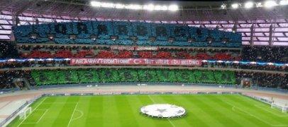 Потрясающая хореография на матче «Карабах» - «Челси»