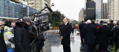 Ilham Aliyev was interviewed by Rossiya-24 correspondent